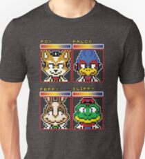 Star Fox Comm Faces - Pixel Art T-Shirt