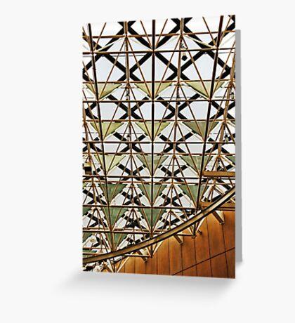 Geometric ceiling Greeting Card