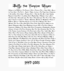 Buffy the Vampire Slayer: Episodes Photographic Print