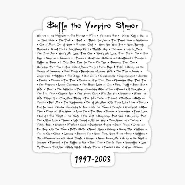 Buffy the Vampire Slayer: Episodes Sticker