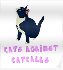 Cats against catcalls! Poster