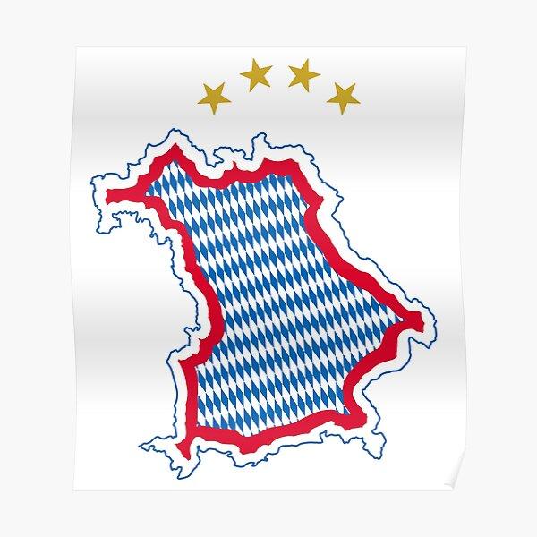 Bavaria Map  Poster