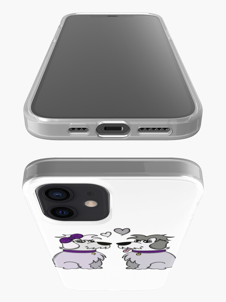 Alternate view of Sheep Dogs in Love Gray iPhone Case & Cover