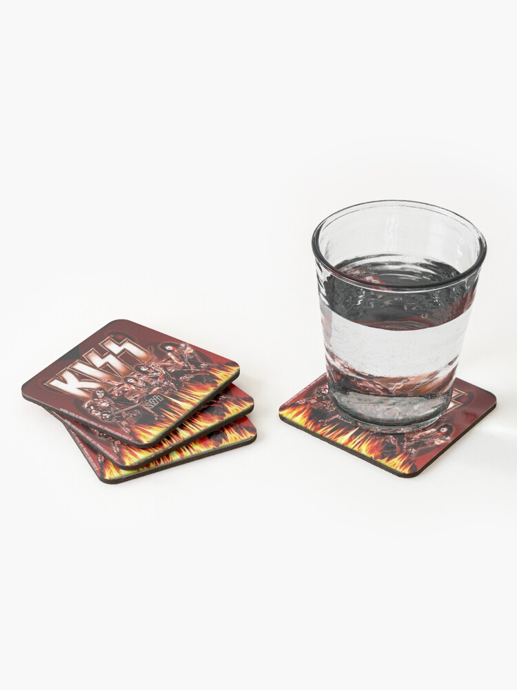 Alternate view of KISS Rocking It Out Coasters (Set of 4)
