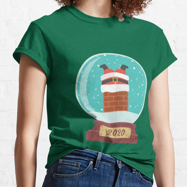 Santa Claus in the chimney Classic T-Shirt