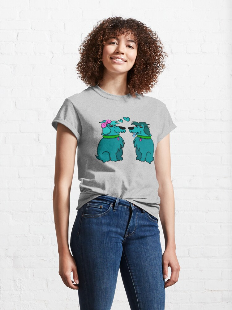 Alternate view of Sheep Dogs in Love Teal Classic T-Shirt
