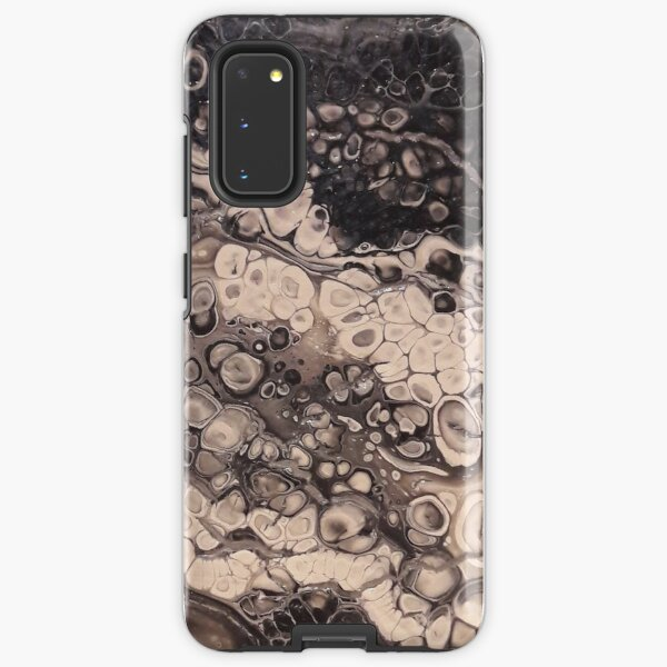 Bland and White hand painted acrylic Samsung Galaxy Tough Case