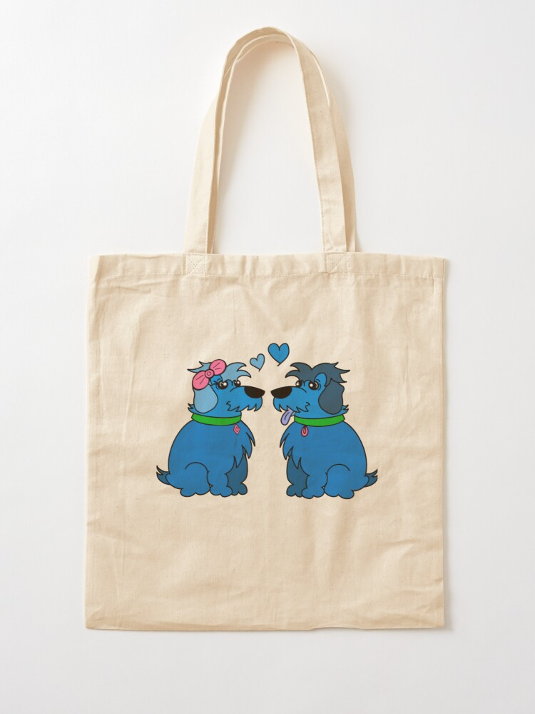 Alternate view of Sheep Dogs in Love Blue Tote Bag