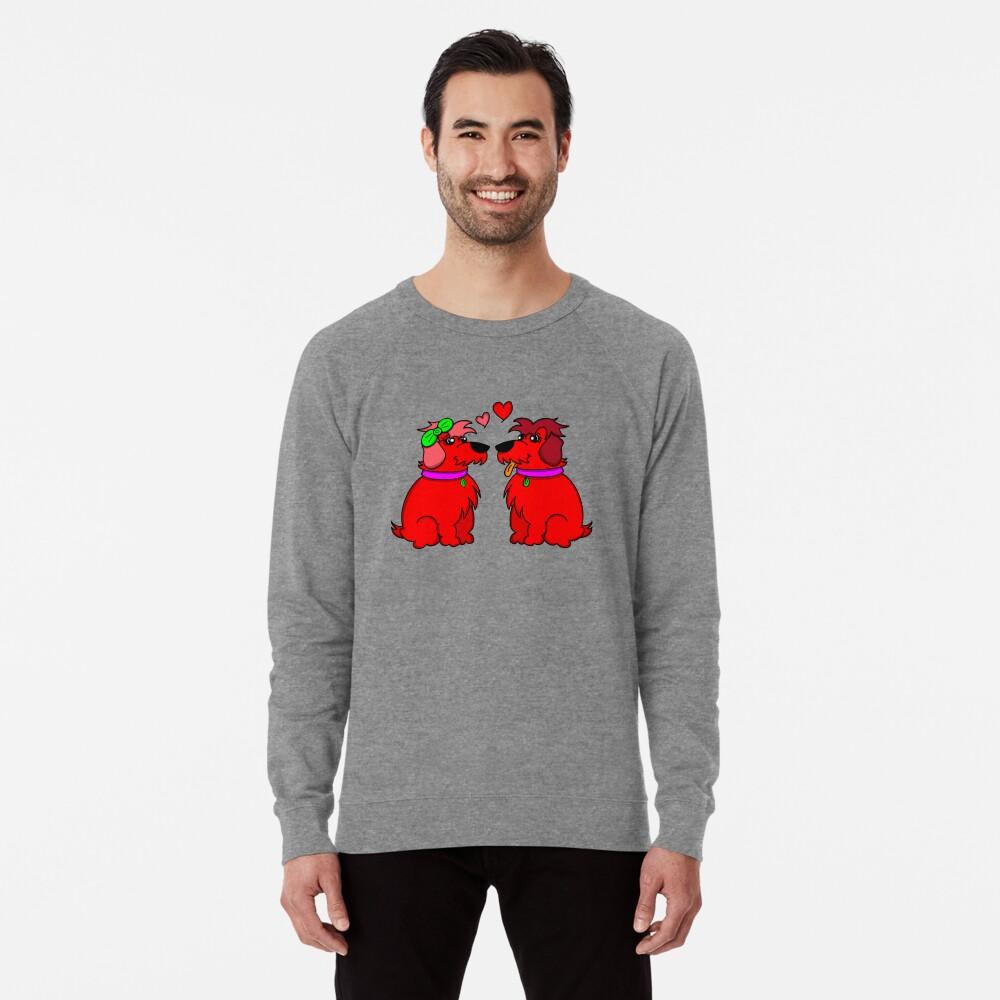 Sheep Dogs in Love Red Lightweight Sweatshirt