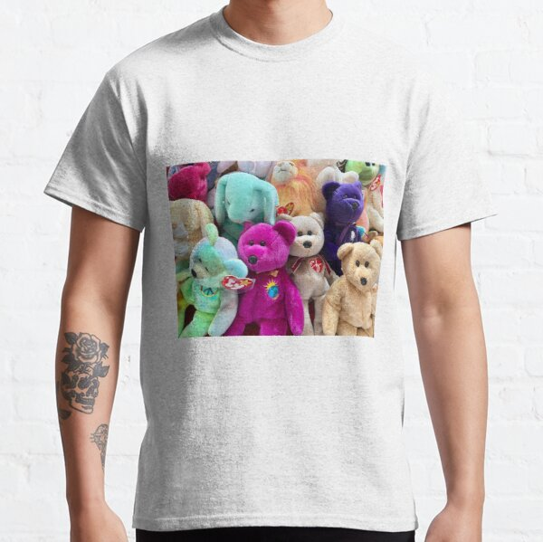 Beanie Babies Gathering for Pictures Classic T-Shirt