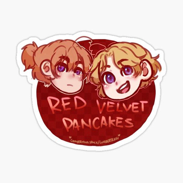 Red Velvet Pancakes Sticker