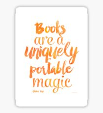 Mango Books are a uniquely portable magic  Sticker