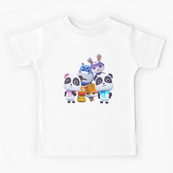 BabyBus, Super rescue team Kiki and Miumiu Panda  Clothing Kids T-Shirt