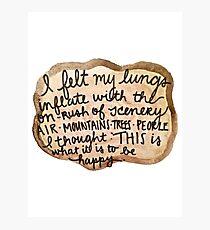 Sylvia Plath Happy Tree Ring Quote Photographic Print