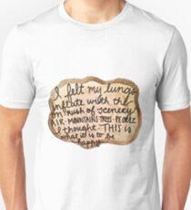 Sylvia Plath Happy Tree Ring Quote Unisex T-Shirt