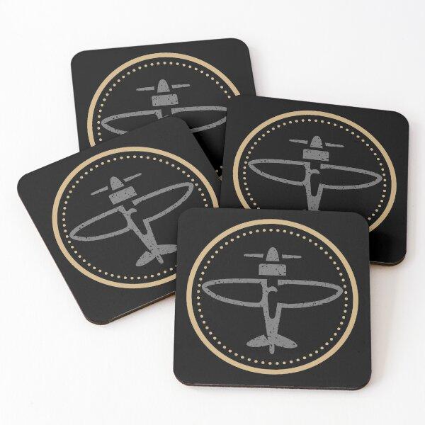 Timeless Aviation Logo Coasters (Set of 4)