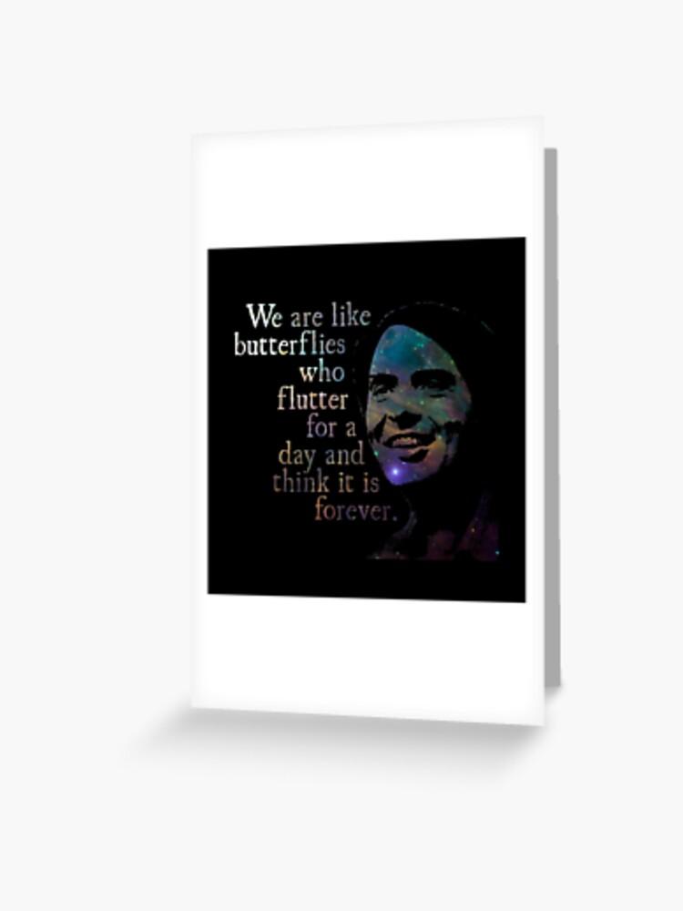 We Are Like Butterflies - Carl Sagan | Greeting Card