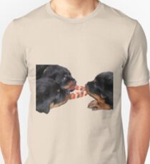 Loving and Sharing Rottweiler Puppies Unisex T-Shirt
