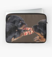 Loving and Sharing Rottweiler Puppies Laptop Sleeve