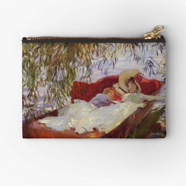 Two Women Asleep by John Singer Sargent  Zipper Pouch
