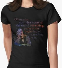 The End of Something - Fred Rogers Women's Fitted T-Shirt