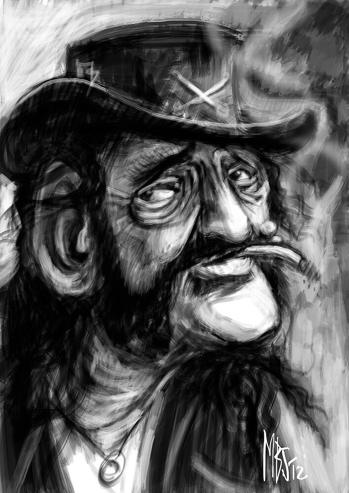 Lemmy, Killed by Death. by Matt Bissett-Johnson