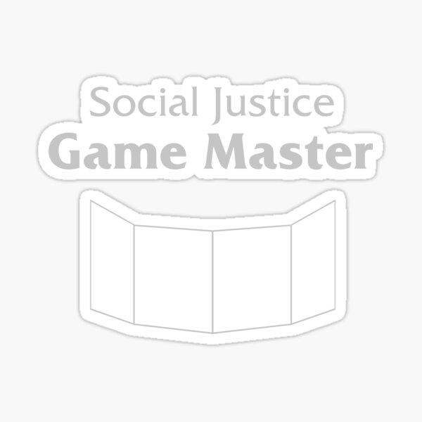 Social Justice Game Master Sticker