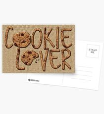 Cookie Lover Delicious Chocolate Chip Yummy Burlap Postcards