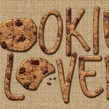 Cookie Lover Delicious Chocolate Chip Yummy Burlap by beverlyclaire