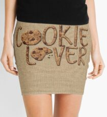 Cookie Lover Delicious Chocolate Chip Yummy Burlap Mini Skirt