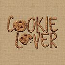 Cookie Lover Delicious Chocolate Chip Yummy Burlap by Beverly Claire Kaiya