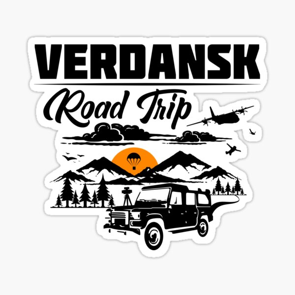 Viaje por carretera a Warzone / Verdansk Pegatina