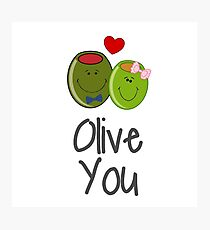 Olive You Photographic Print