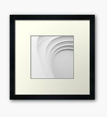 White step Framed Print