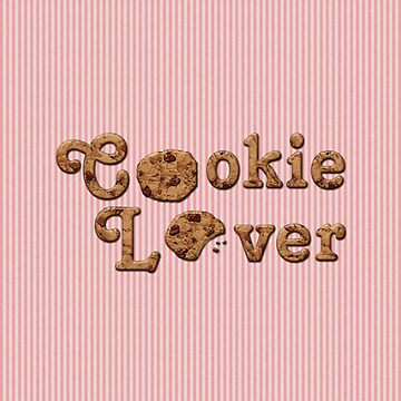 Cookie Lover Delicious Chocolate Chip Pink Stripes by beverlyclaire