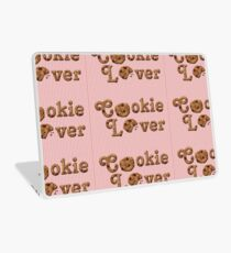 Cookie Lover Delicious Chocolate Chip Pink Stripes Laptop Skin