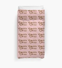 Cookie Lover Delicious Chocolate Chip Pink Stripes Duvet Cover