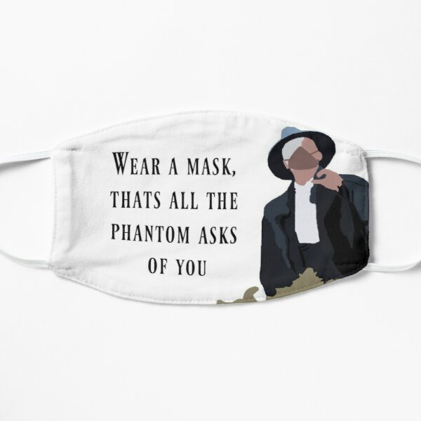 """""""Wear A Mask, That's all that The Phantom Asks of You"""" Phantom of the Opera Mask"""