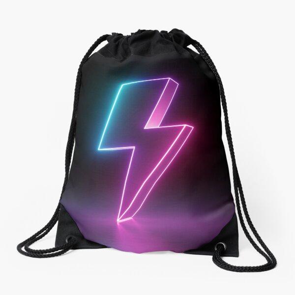 NEON THUNDERBOLT !!! Drawstring Bag