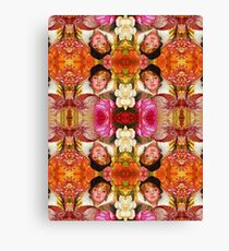 Beautiful Vintage Woman Flower Collage  Canvas Print
