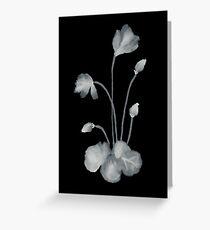 Ink flower negative Greeting Card