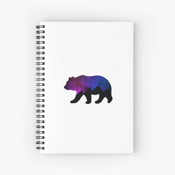 Galaxy Bear Silhouette  Spiral Notebook