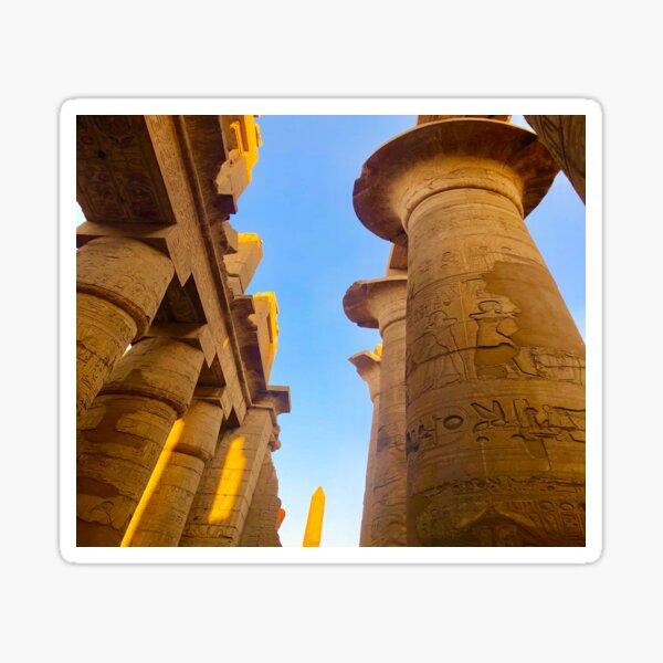 Egyptian Temple Columns Sticker