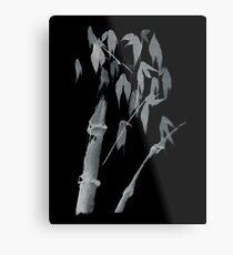 Bamboo negative Metal Print