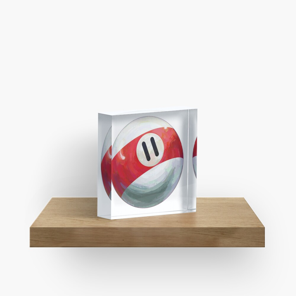 Billiards 11 Ball Acrylic Block