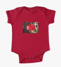 Vector Style Poppy With Natural Background  Kids Clothes