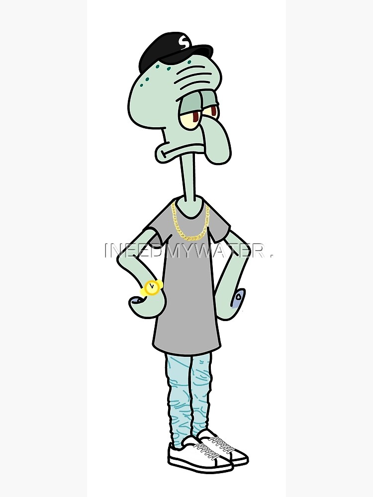 Squidward Tentacles Flexin' Hard | Photographic Print