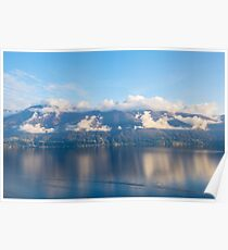 Alpine lake with mountains Poster