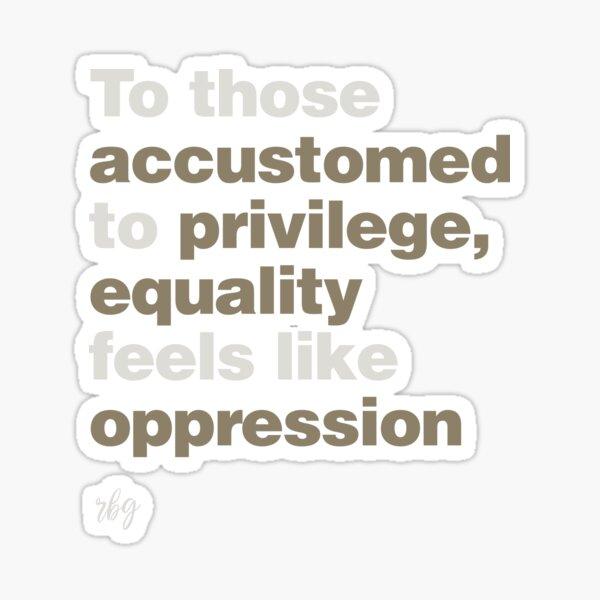Privilege RBG Sticker