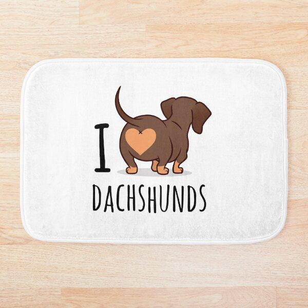 I Love Dachshunds Bath Mat